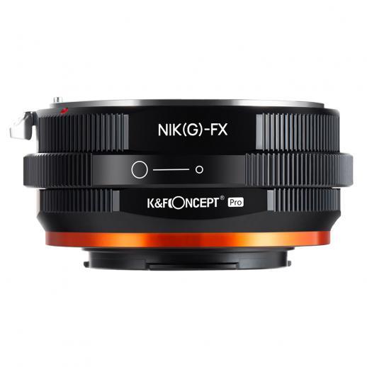 Nowy produkt: K&F M18115 Nikon NIK (G) -FX PRO, nowy w 2020 roku precyzyjny adapter do obiektywu (pomarańczowy)
