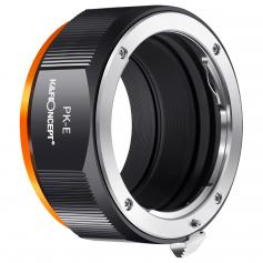 K&F M17105 PK-NEX, uusi vuonna 2020 erittäin tarkka objektiivisovitin (oranssi)