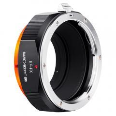 K&F M12115 EOS-FX PRO, nouvel adaptateur d'objectif haute précision 2020 (orange)