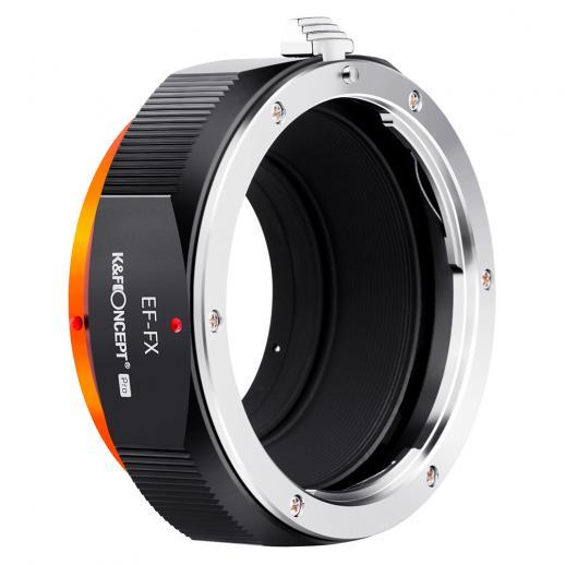 K&F M12115 EOS-FX PRO, novo em 2020 adaptador de lente de alta precisão (laranja)