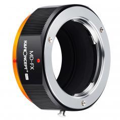 Adapter obiektywu aparatu MD do FX Adapter mocowania obiektywu z matową konstrukcją lakieru, pasuje do Fuji XT2 XT20 XE3 XT1 X-T2, MD-FX PRO