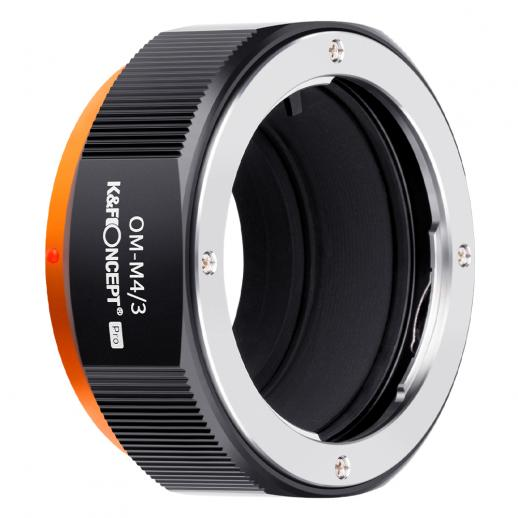 KF M16125 high-precision lens adapter ring, coated with matt paint, secondary oxidation orange, OM-M4/3