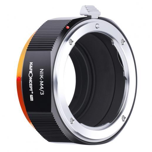 KF M11125 high-precision lens adapter ring, coated with matt paint, secondary oxidation orange, NIK-M4/3