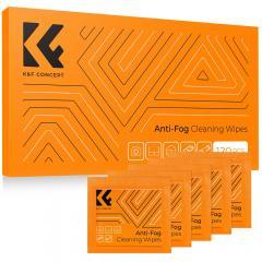 Lingettes de nettoyage pour lentilles/lunettes 120 PCS Lingettes anti-buée pré-humidifiées emballées individuellement adaptées aux objectifs de caméra, lunettes, tablettes, écrans mobiles, claviers