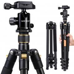 Camera Tripod 62'/157cm Lekki Statyw Aluminiowy 22lbs Waga Z PłYTą Szybkiego Zwalniania, 360° GłOwica Kulowa I Torba Do PodróżY Dla PodróżY Dla PodróżY
