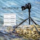 TM2324 Lekki statyw podróżny do lustrzanek cyfrowych m.in. Canon Nikon itp. Wykonany z aluminium Maksymalna wysokośc 157cm