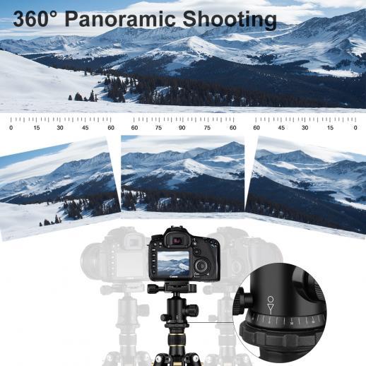 TC2534 Carbon Kamerastativ Fotostativ Reisestativ Einbeinsativ-Funktion Kugelkopf