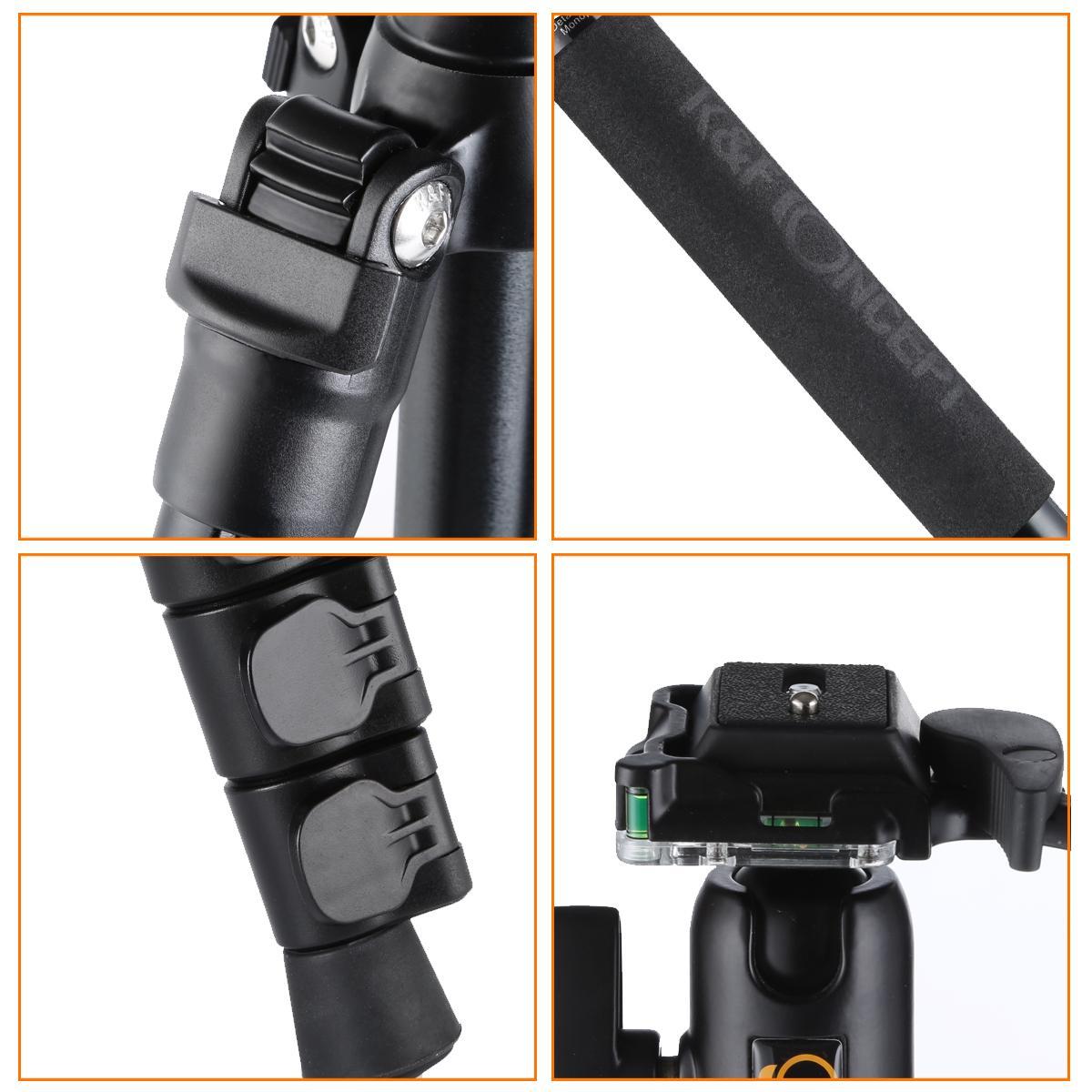 TM2524 Lichtgewicht reisstatief Monopod voor DSLR-camera aluminium balhoofd
