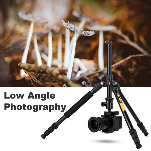 TM2534 Treppiede per fotocamera DSLR da 65 pollici per Canon, Nikon Fotografia di Viaggio