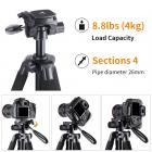 TM2624L Zwart Compact Statief 70 inch voor Videocamera Mobiele Telefoon