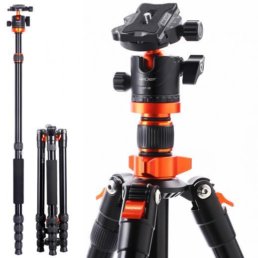K&F Trépied léger en aluminium compact 67 pouces pour appareil photo reflex numérique Canon, Nikon - K&F concept TM2515M1