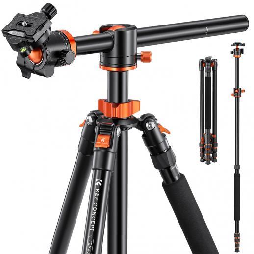 K&F SA254T1 Treppiede compatto leggero per fotocamere Canon Nikon Professional DSLR Photography Alluminio 93 pollici