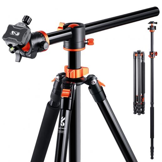 K&F Concept SA254T1 Leichtes Kompaktstativ für Canon Nikon Professional DSLR-Kamera 94-Zoll-Aluminium