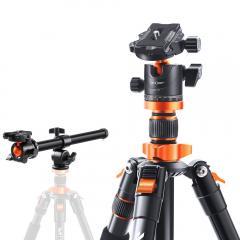 """Trépied pour appareil photo reflex numérique 78""""/231cm Capacité de charge de 22 lb avec colonne centrale multi-angle rotative en alliage de magnésium"""