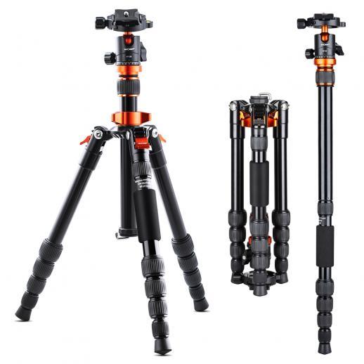 """Tripé de câmera de 51""""/129cm Tripés de viagem de alumínio flexível portátil 17,63 libras Carregar com monopé portátil e bolsa de transporte para câmeras DSLR"""