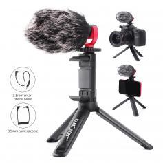 K&F Concept CM600 Video Kondensator Mikrofon,3.5MIC-Schnittstelle,Shotgun Mikrofon kompatibel für Vlog Aufnahme YouTube/Interview