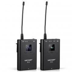 M9 Kabellos Lavalier Mikrofon Wireless Funkmikrofon mit 3,5 mm Klinkenstecker und TRRS-Schnittstellenkonvertierungslinie