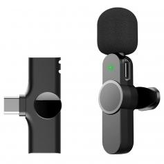 EP033 Mini Plug Play Mikrofon Bezprzewodowy mikrofon Lavalier do telefonów typu C Laptop