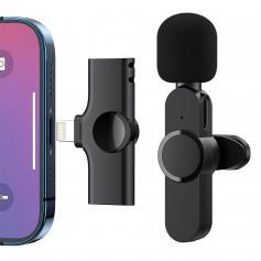 EP033 Mini Plug Play Microphone Wireless Lavalier Mic For iPhone & iPad