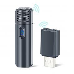 A10 Bezprzewodowy Mikrofon Lavalier Lapel Mic System Plug & Play Do Vloggera - Adapter do iPhone'a