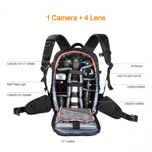 Multifunctional Large DSLR Camera Backpack for Outdoor Travel Photography 11.41*6.69*18.11 inches