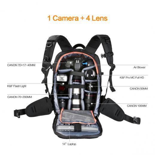 Zaino Fotocamera DSLR Fotografia 11,41 * 6,69 * 18,11 inch
