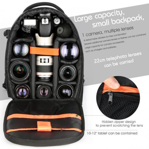 Zaino Fotocamera DSLR Fotografia 13 * 9,8 * 5,5 inch
