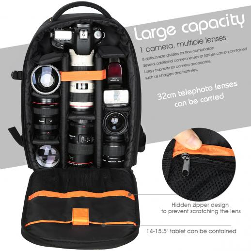 Zaino Fotocamera DSLR Fotografia  10.24 * 5.51 * 16.54 inch