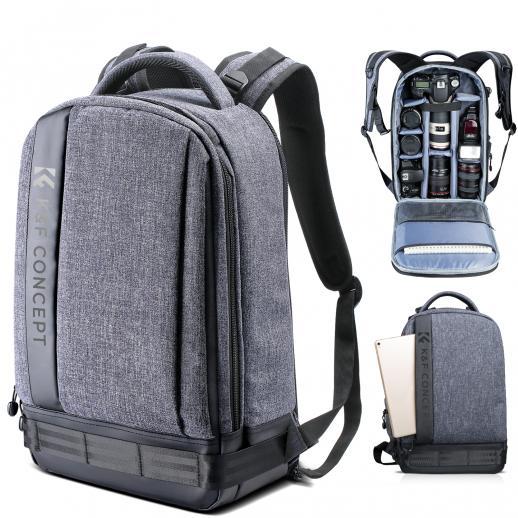 Zaino Reflex Professionale Impermeabile Casual Grande Nylon Capacità di 2 Fotocamere per DSLR Mirrorless Laptop Treppiede 10.63 * 5.91 * 16.93 inches