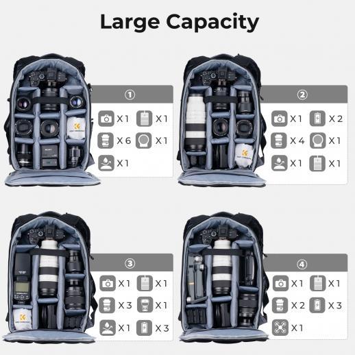 Zaino Grandi per Fotocamera DSLR Nikon Canon Fotografia 10.63 * 5.91 * 16.93 inches