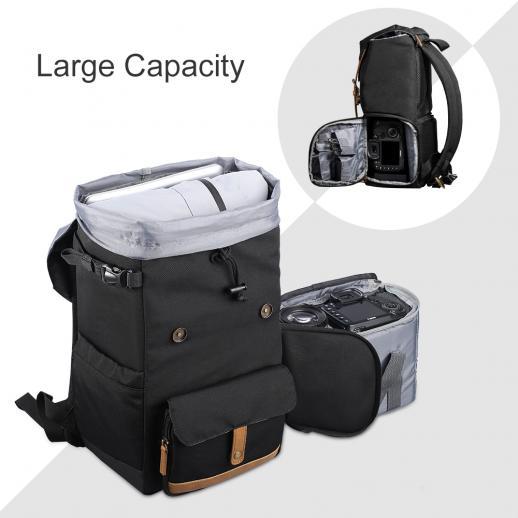 Compre Casos Da Câmera À Prova D 'Água Mochila De Viagem Bolsa Para Câmera Capa Bag DSLR Saco De Sacos De Foto De Vídeo Laptop Para Canon Nikon