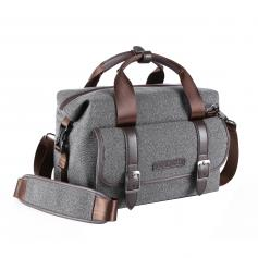 Plecak fotograficzny  do lustrzanek Torba na ramię Messenger szary 11.8*6.3*9.5 cala