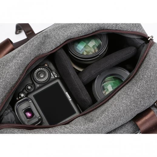 DSLR Camera Messenger bandolera gris 11.8 * 6.3 * 9.5inch
