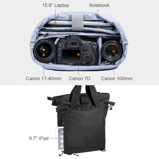 Borsa a tracolla grande per fotocamera DSLR Fotografia 40 * 13 * 58 cm