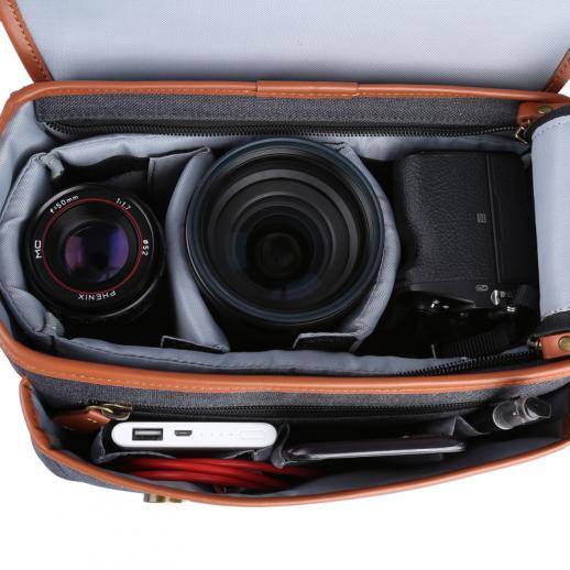 Borsa a spalla a tracolla compatta per fotocamera DSLR 25 * 16 * 19 cm