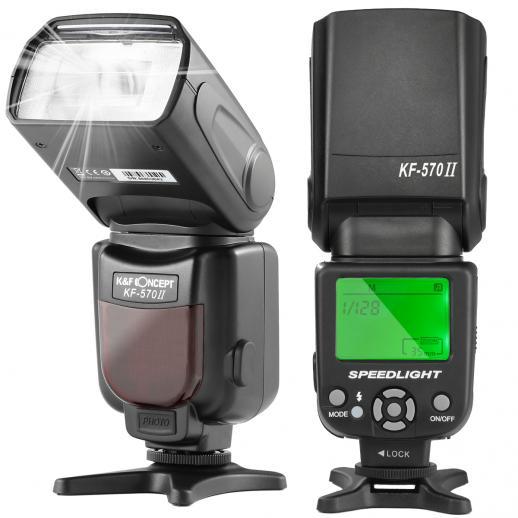 KF570 II Flash para Canon Nikon com montagem de sapata com contato único