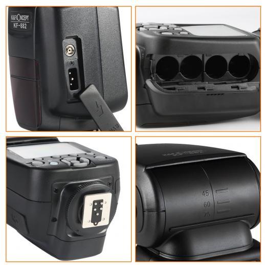 KF882 E-TTL Blitz HSS Flash für Canon GN58 1/8000s