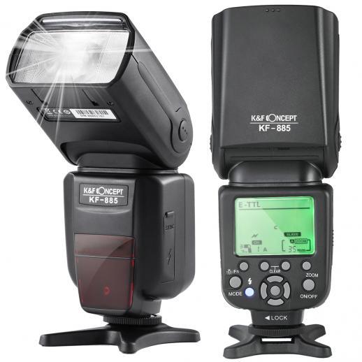 KF885 TTL Flash 1/8000 HSS para Canon Nikon