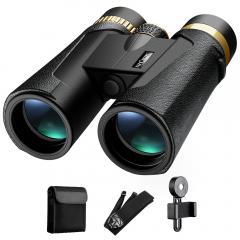 Jumelles K&F Concept HY1242 10x42 avec oculaire large de 20 mm et vision claire BAK4 pour l'observation des oiseaux, la chasse et le sport