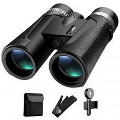 K&F Concept HY1242A 12x42 Fernglas mit 20 mm großem Okular und BAK4 Clear Light Vision für Vogelbeobachtung, Jagd, Sport
