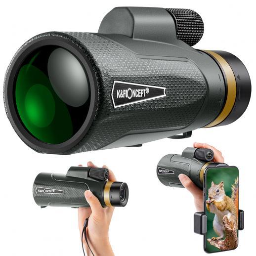 K&F YH1250 12*50 Compact Binoculars ,IP65 Waterproof  ,High Power Easy Focus Binoculars for Bird Watching,Outdoor Hunting,Travel,Sightseeing