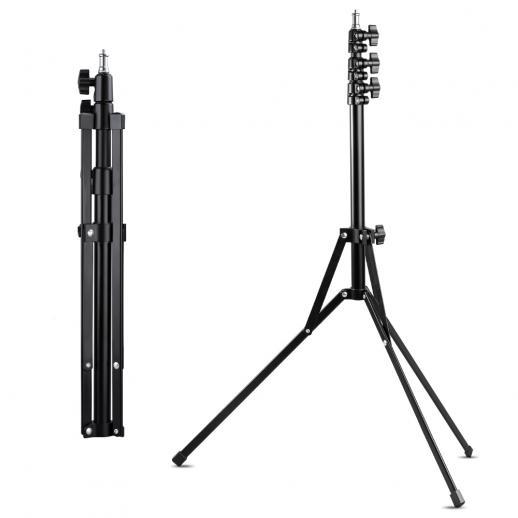 """K&F Concept Stand de lumière 210cm / 82.68 """", lumières de photographie réglables en alliage, trépied pour lampes annulaires, boîtes à lumière, réflecteurs, lumières clignotantes et autres éclairages de photographie"""