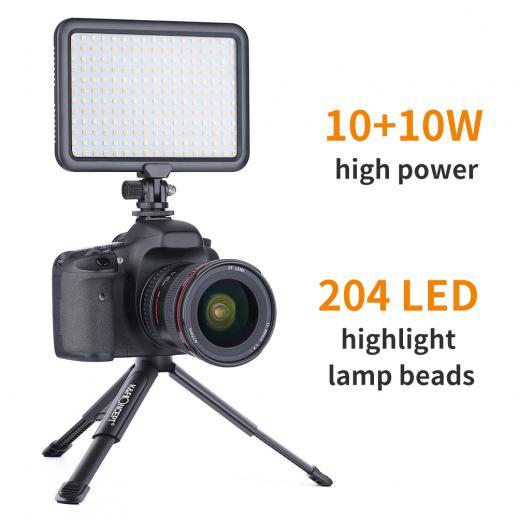 Protable Photography 11w 3200k und 5600k Kamera-Licht LED-Video-F/ülllicht f/ür Digitale Spiegelreflexkameras Topiky Kamera-F/ülllicht