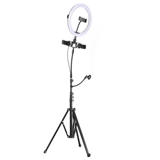 """K&F Concept 10 """"Ring Mode 3-Light Mode Illuminazione a 11 livelli Dimmerabile LED Ring Light con telecomando Progettato per lo streaming, il trucco, la fotografia selfie"""