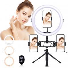 11-calowa lampa pierścieniowa do selfie z uchwytem na telefon do kamery wideo Vlog Smartfon YouTube Autoportret