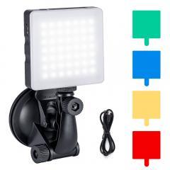 Kit d'éclairage tactile pour vidéoconférence sur ordinateur portable, projecteur vidéo à LED d'ordinateur K&F Concept 6500K avec ventouse, 4 filtres couleur pour travail à distance, réunion avec zoom, auto-diffusion, vlogging et maquillage