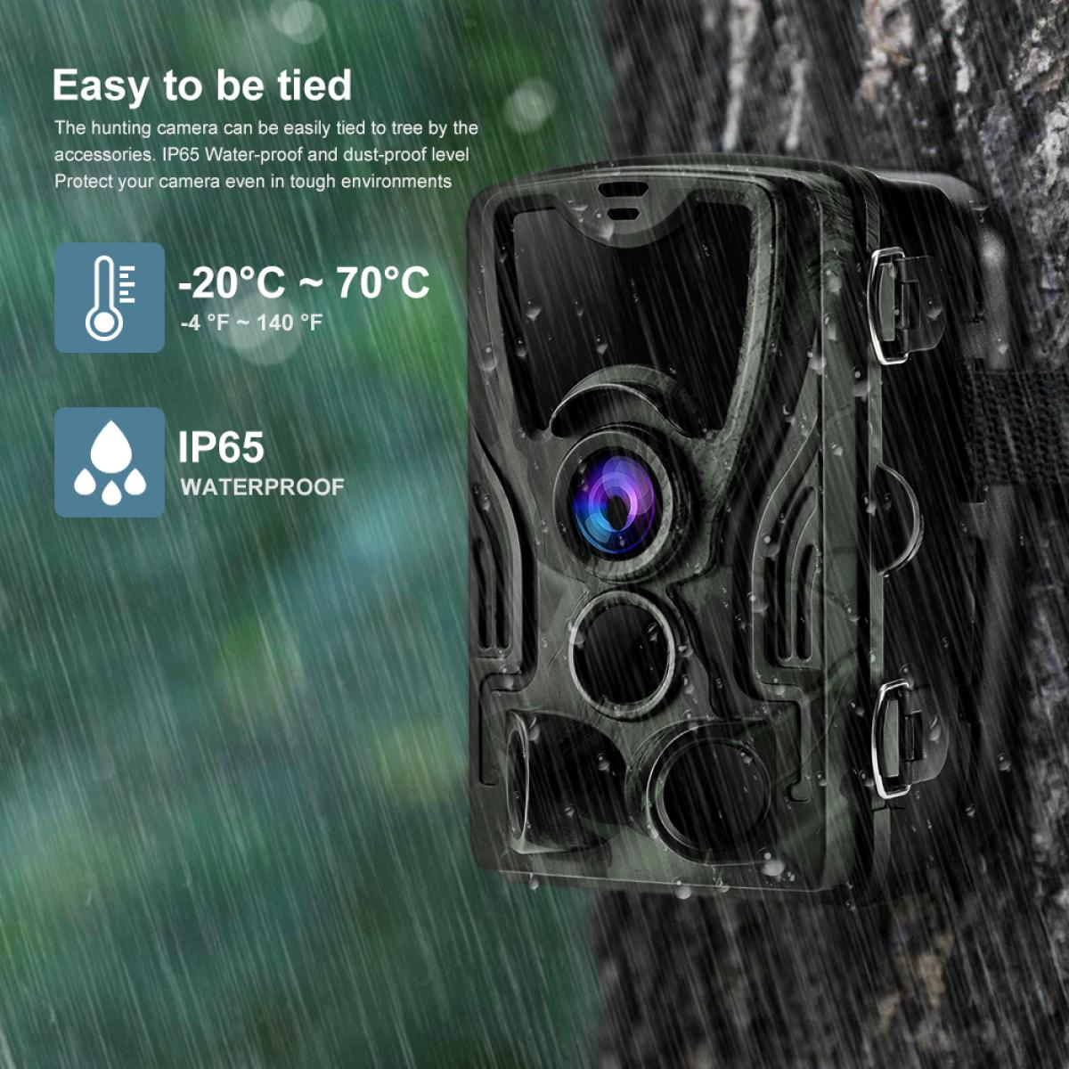 HC-801A 24MP/0.5 seconds Trigger/3 PIR HD Outdoor Waterproof Hunting Infrared Night Vision Wildlife Camera
