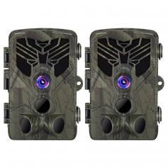 2.7K 24MP HD Trail Camera Jaktkamera Scouting Trail Camera Wildview (2 PCS)
