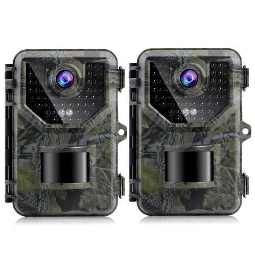 2 Stück HB-E2 2.7K 20MP HD Wildkamera Jagdkamera Bluetooth PIR Motion Nachtsichtkamera
