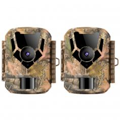 2PCS 0.4 seconds Trigger HD Outdoor Waterproof Hunting Infrared Night Vision Mini Wildlife Camera